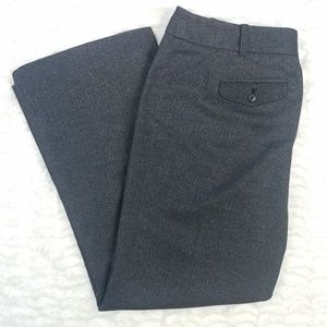 Ann Taylor Gray Herringbone Dress Pants